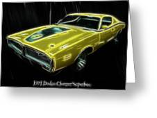 1971 Dodge Charger Superbee - Electric Greeting Card