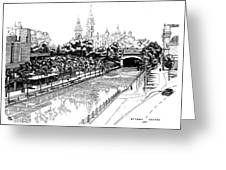 1971 Rideau Canal Ottawa Greeting Card