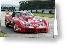 1972 Chevy Corvette At Road America Greeting Card