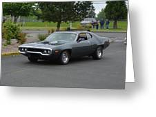 1972 Plymouth Roadrunner Grow Greeting Card
