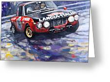 1972 Rallye Monte Carlo Lancia Fulvia 1600hf Munari Mannucci Winner Greeting Card