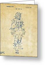 1973 Astronaut Space Suit Patent Artwork - Vintage Greeting Card