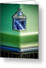 1973 Buick Regal Hood Ornament Greeting Card