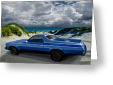 1973 El Camino In The Dunes Greeting Card