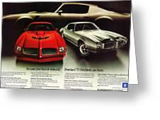1973 Pontiac Firebird Trans Am  Greeting Card