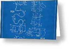 1973 Space Suit Elements Patent Artwork - Blueprint Greeting Card by Nikki Marie Smith
