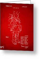 1973 Space Suit Patent Inventors Artwork - Red Greeting Card