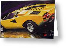 1974 Lamborghini Countach Lp400 Greeting Card