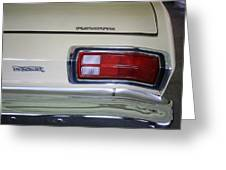 1974 Plymouth Duster Tail Light With Logos Greeting Card