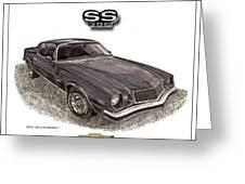 1976 Chevrolet Camato S S 396 Greeting Card
