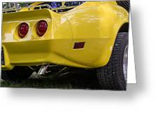1976 Corvette Stingray Taillights Greeting Card