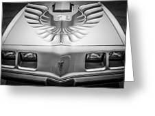 1979 Pontiac Trans Am Hood Firebird -0812bw Greeting Card
