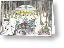 1980 Alien Yuletide Feast  Greeting Card