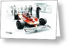 1980  Ferrari 312t5 Greeting Card