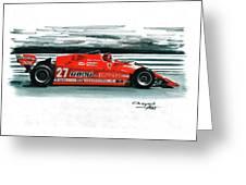 1981  Ferrari 126cx Greeting Card
