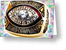 1982 Redskins Super Bowl Ring Greeting Card