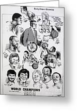 1984 Boston Celtics Championship Newspaper Poster Greeting Card