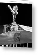 1986 Rolls-royce Hood Ornament 2 Greeting Card