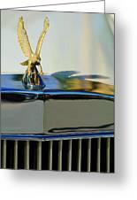 1986 Zimmer Golden Spirit Hood Ornament 2 Greeting Card by Jill Reger