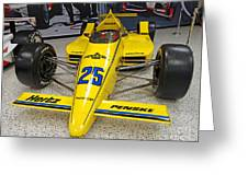 1987 Indianapolis 500 Winner Al Unser Greeting Card