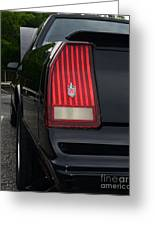 1988 Monte Carlo Ss Tail Light Greeting Card