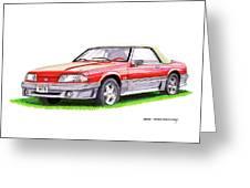 1989 Saleen Mustang Convertible Greeting Card