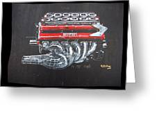 1990 Ferrari F1 Engine V12 Greeting Card