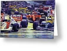 1992 Monaco Gp Start  Greeting Card
