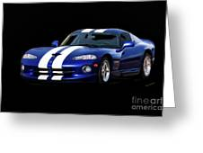 1995 Dodge Viper Coupe I Greeting Card