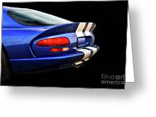 1995 Dodge Viper Coupe 'tail' Greeting Card