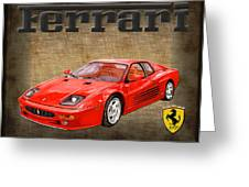 Ferrari F 512m 1995 Greeting Card