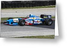 1997 Benetton B197 F1 At Road America Greeting Card