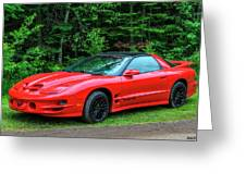 1998 Pontiac Firebird Trans Am Greeting Card