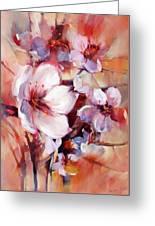 1almonds Blossom  13 Greeting Card