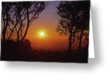 1b6348-a1 Sunrise Over Sonoma Greeting Card