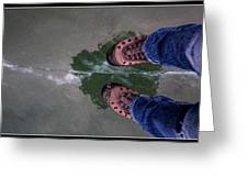 Standing On Thin Ice 2 Greeting Card