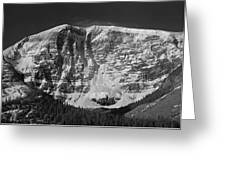 1m3769 Bw East Face Mt Kitchner Greeting Card