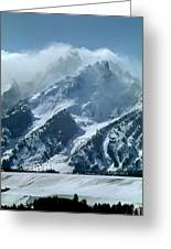 1m9314 Clouds Over The Tetons Greeting Card
