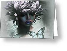 Sensual Beautiful Dahlia Greeting Card