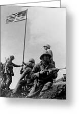1st Flag Raising On Iwo Jima  Greeting Card