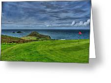 1st Green Cape Cornwall Golf Club Greeting Card