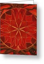 1st Mandala - Root Chakra Greeting Card