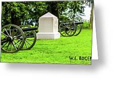 1st Mass Battery Gettysburg National Cemetery Greeting Card