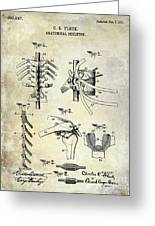 1911 Anatomical Skeleton Patent Greeting Card
