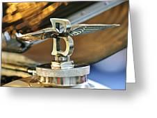 1927 Bentley 6.5 Litre Sports Tourer Hood Ornament Greeting Card