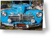 1942 Ford Super Deluxe Sedan Painted  Greeting Card