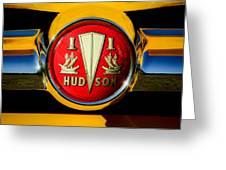 1954 Hudson Grille Emblem Greeting Card