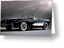 '56 Corvette Convertible Greeting Card