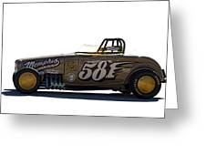 581 Bonneville Race Car Greeting Card