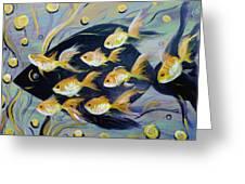 8 Gold Fish Greeting Card